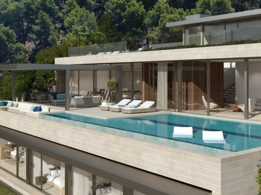 Exclusive building plot with sea view & project for a Mega luxury Villa in Port Andratx