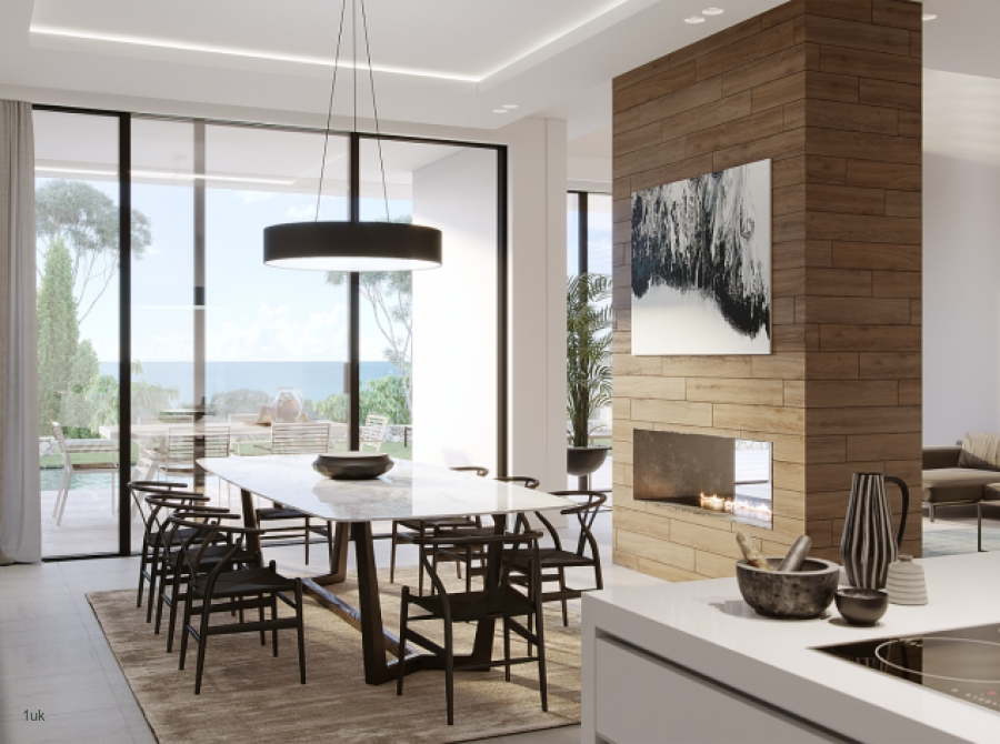 View of dining room in the villa in Marbella