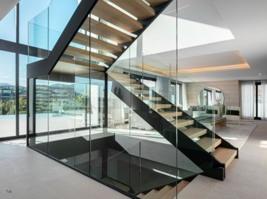 View of staircase at brand new modern villas in El Paraiso