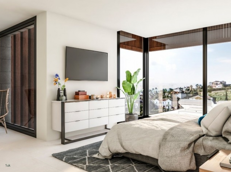 Master bedromm with amazing views in Marbella