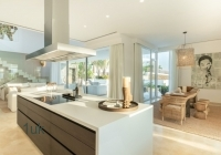 View of the open plan kitchen