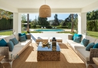 Outdoor seating space for entertainment