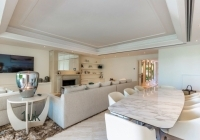 Dining area with marble worktop