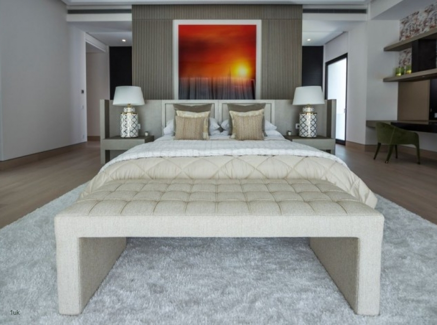 Master bedroom with office area