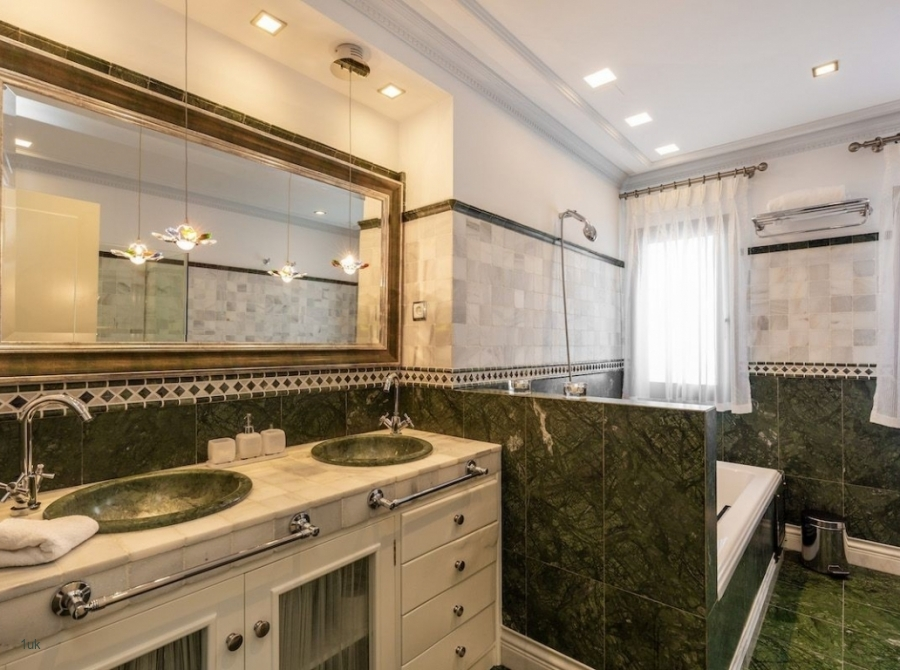 Large bathroom with double sink