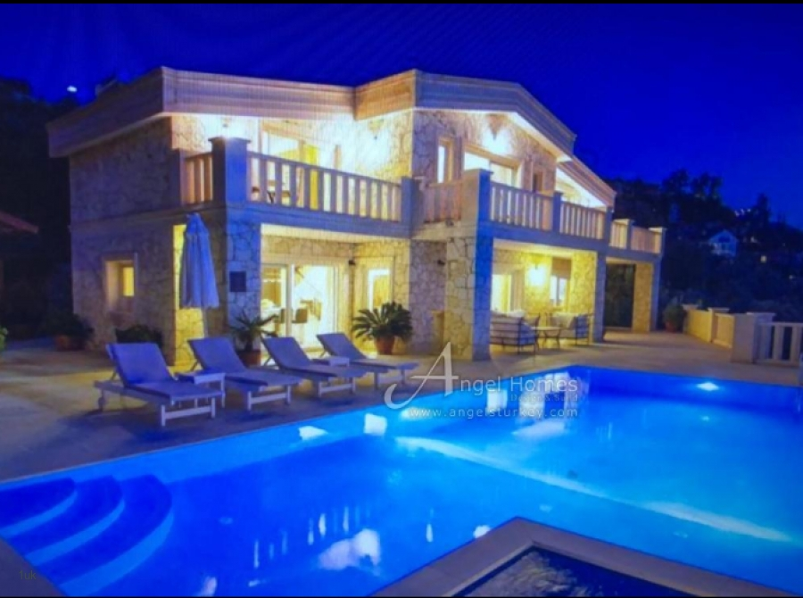 Stylish Villa with it's Own Private Beach Located in Kalkan