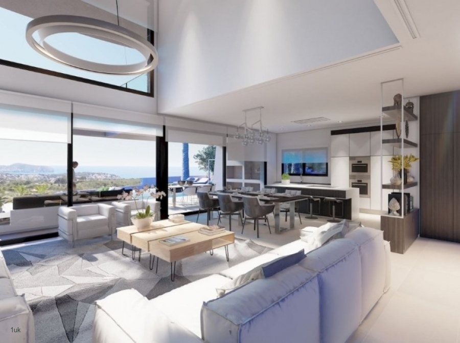 Lovely and spacious open plan lounge and kitchen