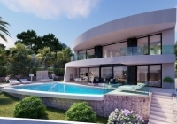 The front of the three bedroom villa in Moraira