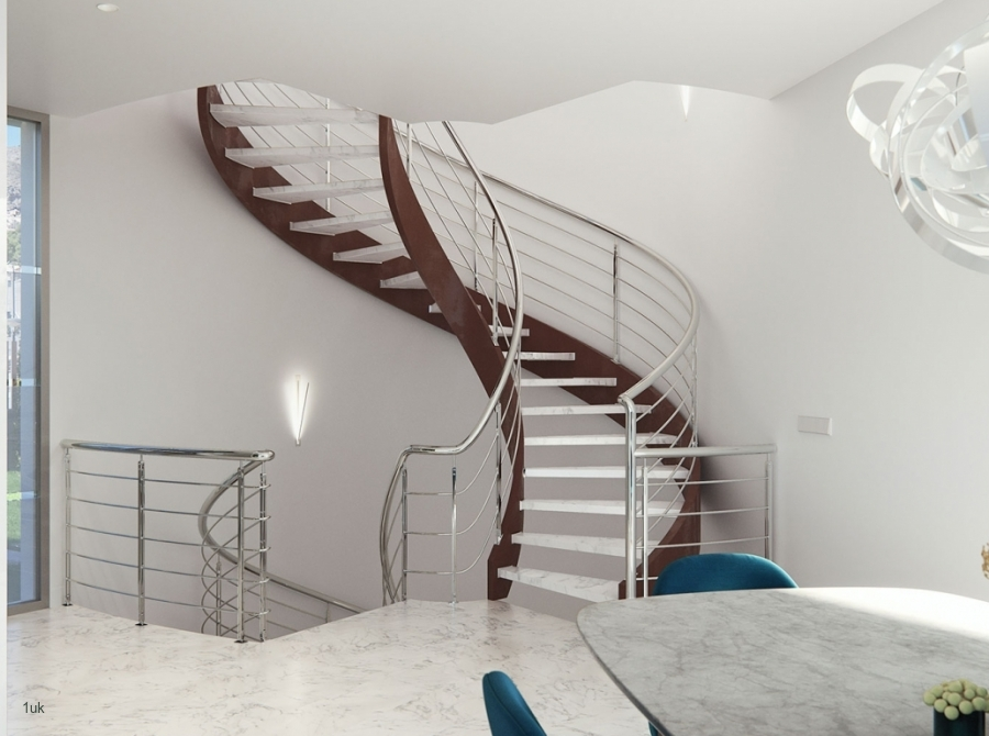 Staircase leading to the next floor