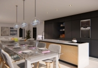 Breakfast table, seating and breakfast bar
