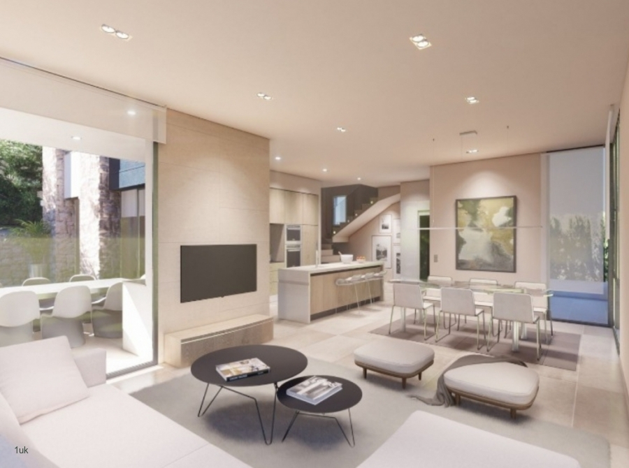 Lounge area with white and grey interior