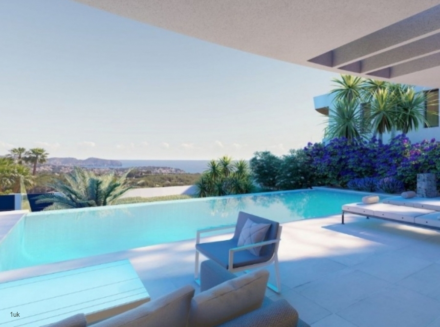 Private swimming pool and balcony